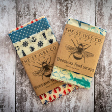 Load image into Gallery viewer, Bee Retro Food Wraps - The St. Ives Co. Cornwall Cornish Souvenir Holiday Souvenir Holiday Beach Food Fresh Hygiene Kitchen