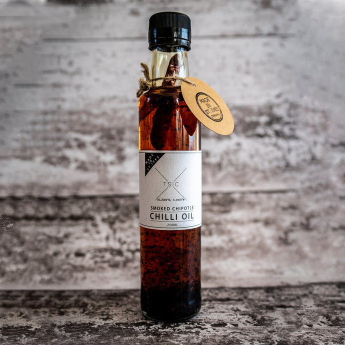 TSIC. Chipotle Chilli Oil - The St. Ives Co. Cornwall Cornish Souvenir Holiday beach Delicious Manly For Him Food Kitchen Local Produce Cornish