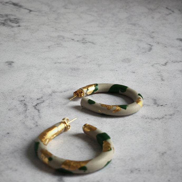 Olive Green, Cream & Gold Gift St Ives Cornwall Cornish Small Independent Quality For Her Design Original Stylish Modern