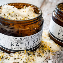 Load image into Gallery viewer, Lavender & Calendula Bath Salts with Real Flowers // Made in Cornwall - The St. Ives Co. Cornwall Cornish Souvenir Holiday beach