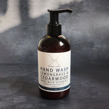 Load image into Gallery viewer, Lemongrass & Cedarwood Hand Wash Natural Organic Cornwall St Ives Beach Calming Meditation Relaxing Pure Best Quality Clean Cleanse