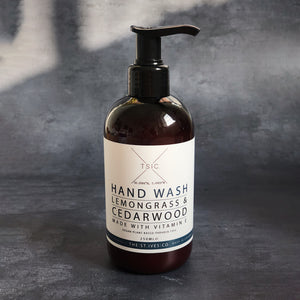 Lemongrass & Cedarwood Hand Wash Natural Organic Cornwall St Ives Beach Calming Meditation Relaxing Pure Best Quality Clean Cleanse