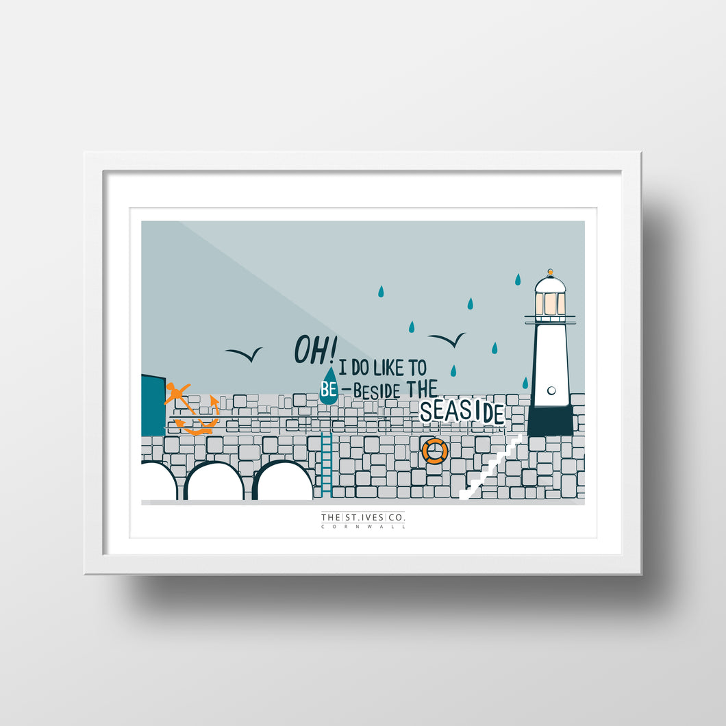'Oh I do' St. Ives Print - The St. Ives Co. Cornwall Cornish Souvenir Holiday beach