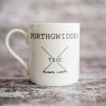 Load image into Gallery viewer, My Happy Place 'Porthgwidden' China Mug - The St. Ives Co. Cornwall Cornish Souvenir Holiday beach