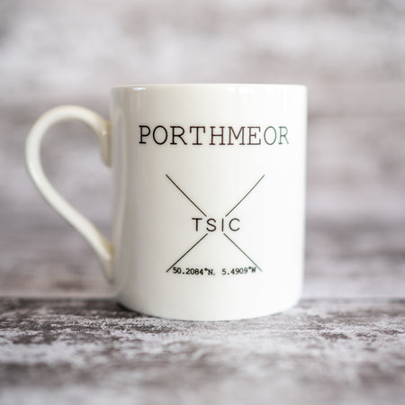 My Happy Place 'Porthmeor' Mug - The St. Ives Co. Cornwall Cornish Souvenir Holiday beach