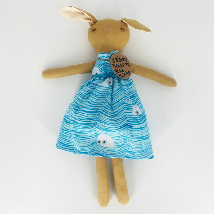 Seal Island Girl Bunny - The St. Ives Co. Cornwall Cornish Souvenir Holiday beach