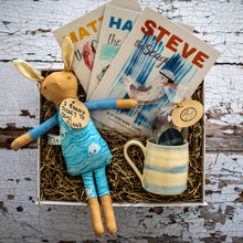 Load image into Gallery viewer, Seal Island Bunny, St. Ives Story Books, Hot Chocolate and Cornish Stripe Mug Hamper