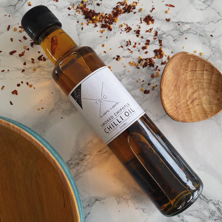 TSIC. Chipotle Chilli Oil - The St. Ives Co. Cornwall Cornish Souvenir Holiday beach Delicious Manly For Him Food Kitchen Local Produce Cornish Sauce