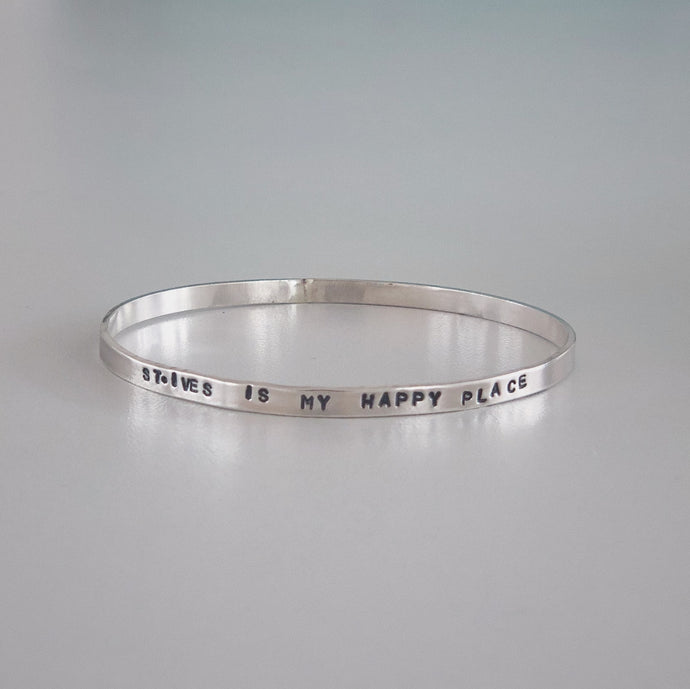 Original TSIC 'St. Ives is my Happy Place' Bangle - The St. Ives Co. Cornwall Cornish Souvenir Holiday beach