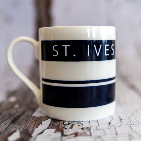 The St. Ives China Mug - The St. Ives Co. Cornwall Cornish Souvenir Holiday beach