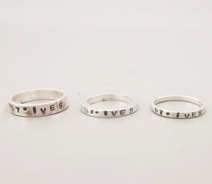 St. Ives Engraved Ring - The St. Ives Co. Cornwall Cornish Souvenir Holiday beach