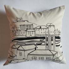 Load image into Gallery viewer, Original TSIC St. Ives View Cushion Cover - The St. Ives Co. Cornwall Cornish Souvenir Holiday beach