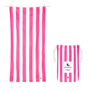 Pink Dock & Bay Quick Dry Towel - The St. Ives Co. Cornwall Cornish Souvenir Holiday beach