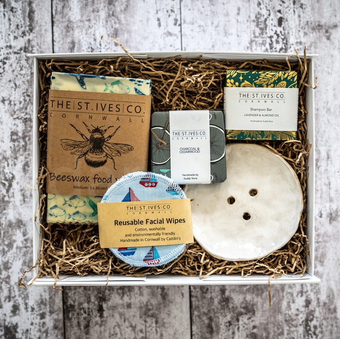 The Sustainable Hamper St Ives Cornwall Cornish Soap Shampoo Bar Bees Wax Wraps Food Gift Idea For Him For Her Quality Local