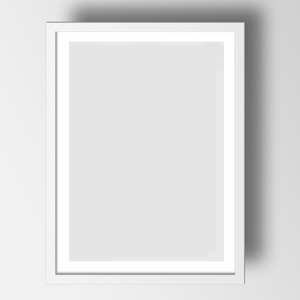 White Frame for A3 print - The St. Ives Co. Cornwall Cornish Souvenir Holiday beach