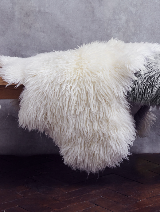 Ivory Yeti sheepskin rug - The St. Ives Co. Cornwall Cornish Souvenir Holiday beach