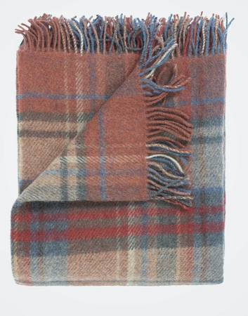 Rusty Check Blanket - The St. Ives Co. Cornwall Cornish Souvenir Holiday beach