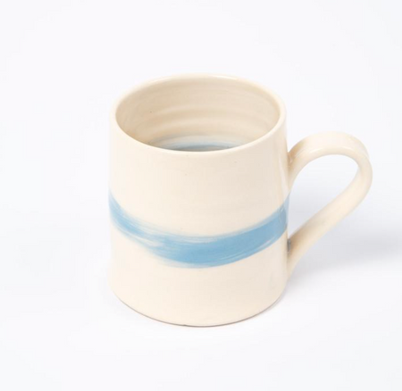 Cornish Stripe Cup - The St. Ives Co. Cornwall Cornish Souvenir Holiday beach