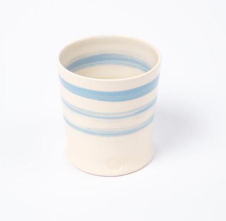 Cornish Stripe Beaker - The St. Ives Co. Cornwall Cornish Souvenir Holiday beach
