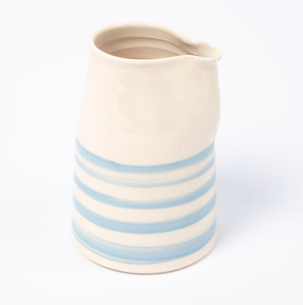 Cornish Stripe Milk Jug - The St. Ives Co. Cornwall Cornish Souvenir Holiday beach