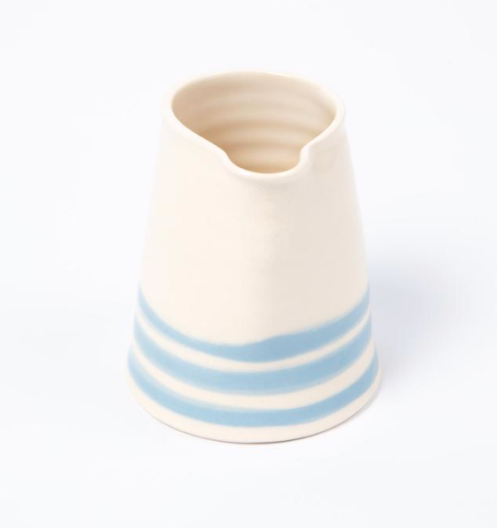 Cornish Stripe Cream Jug - The St. Ives Co. Cornwall Cornish Souvenir Holiday beach
