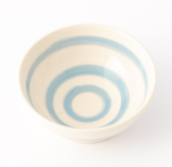 Cornish Stripe Cereal Bowl - The St. Ives Co. Cornwall Cornish Souvenir Holiday beach