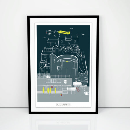 My Happy Place Tate Print - The St. Ives Co. Cornwall Cornish Souvenir Holiday beach
