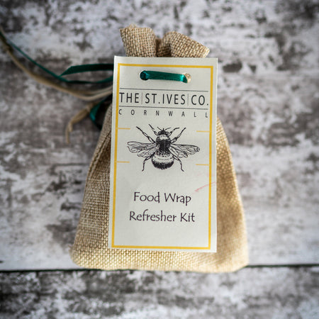 Bee Retro Food Wrap Refreshers - The St. Ives Co. Cornwall Cornish Souvenir Holiday Beach Kit Refresh