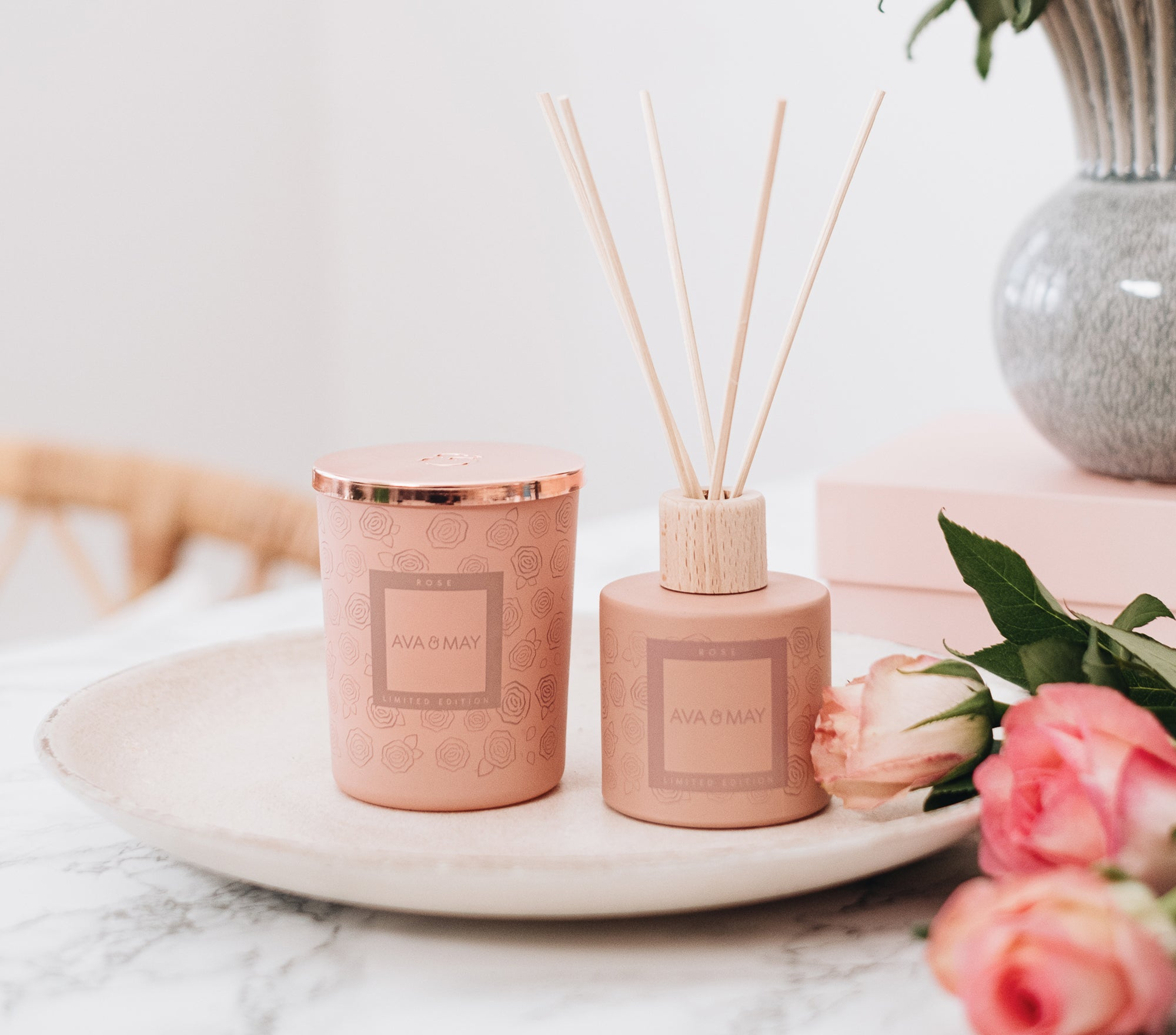 Rose Home Fragrance Set