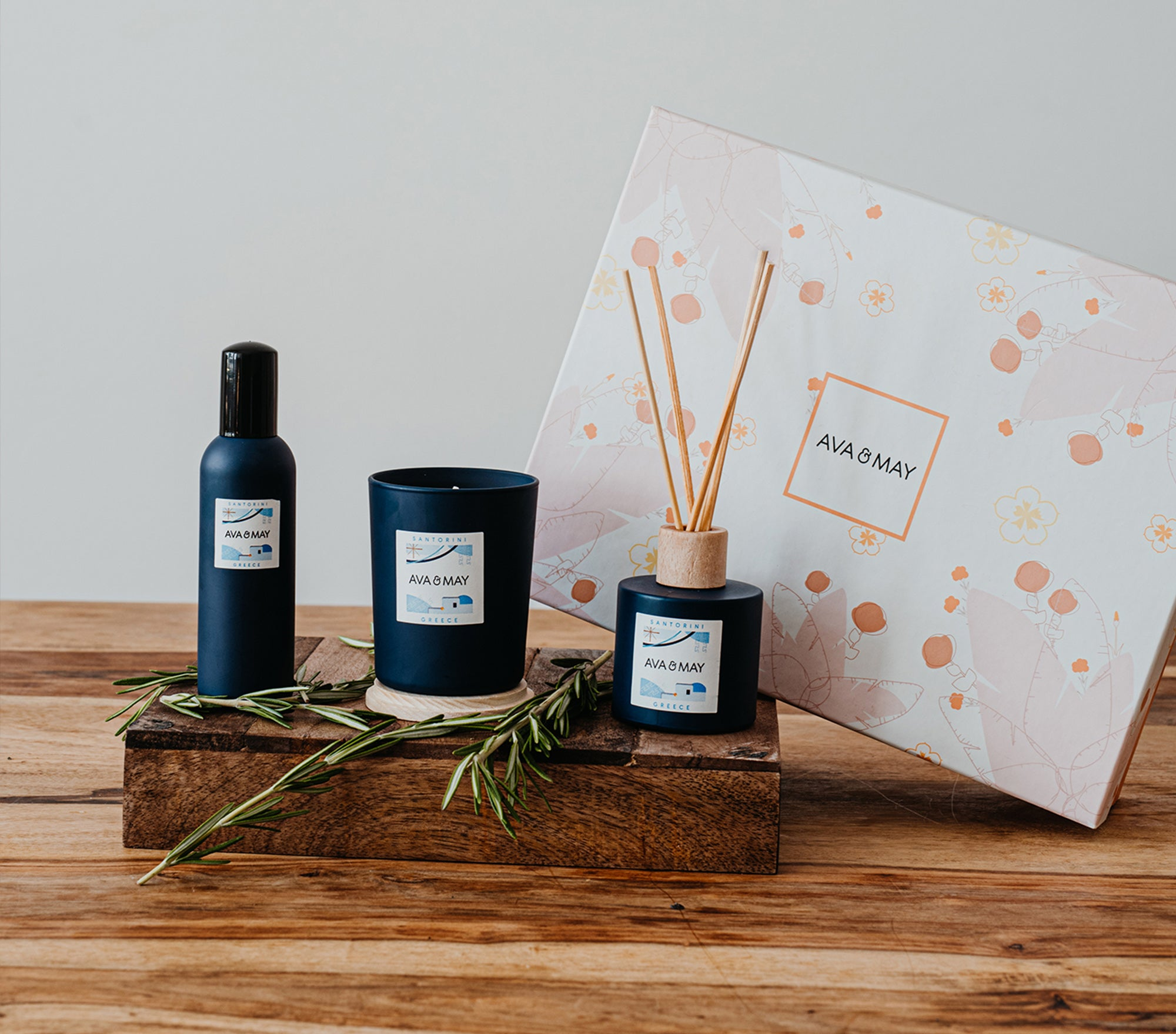 Santorini Home Fragrances Collection - Flower Box Edition