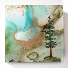 "Load image into Gallery viewer, 4"" Square Tree Block - Solstice - Mini #22"