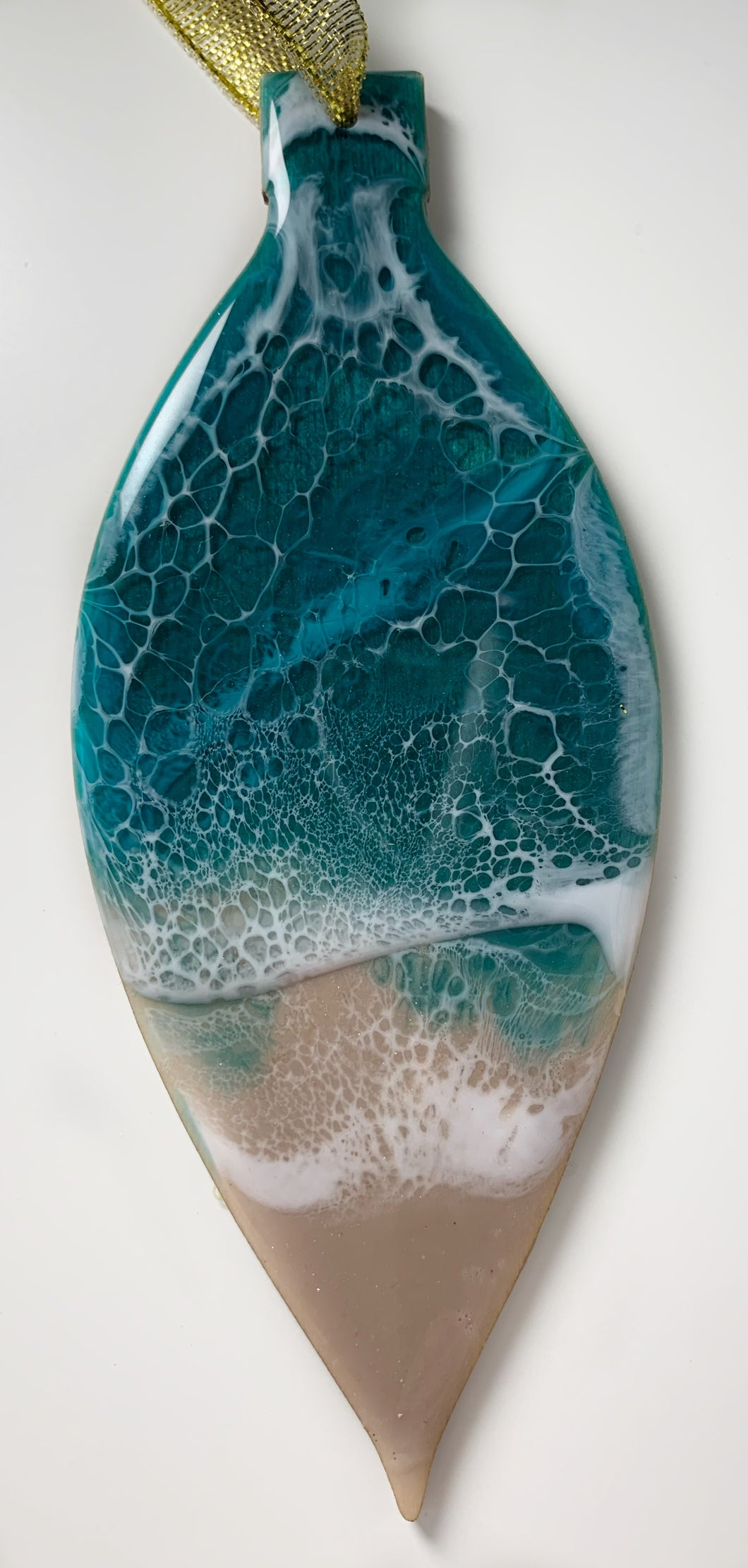 Narrow Tear Drop Ocean Ornament