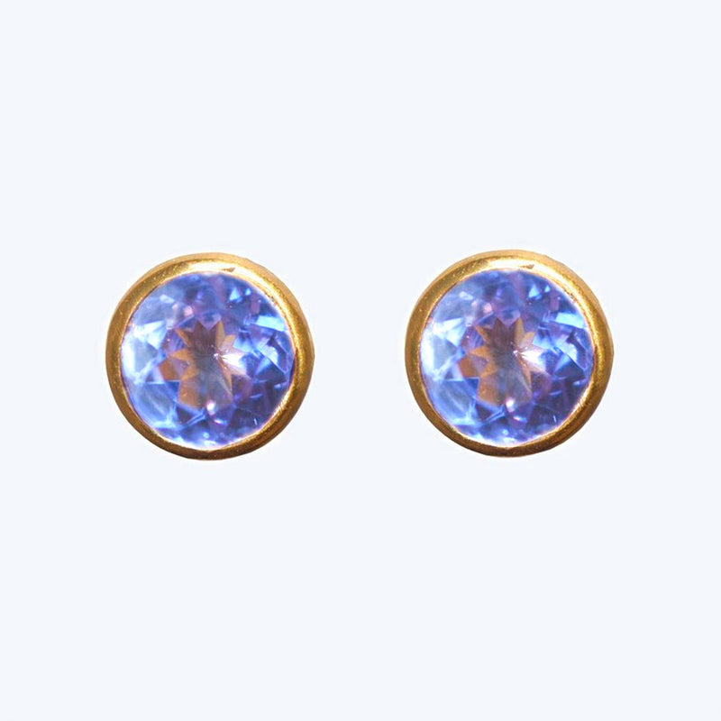 Amethyst Bindi Stud Earrings