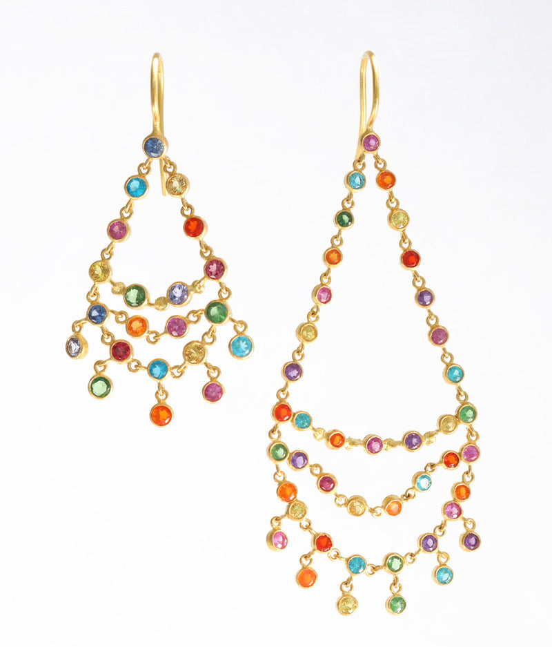 Multicolored Dancing Emilie Earrings