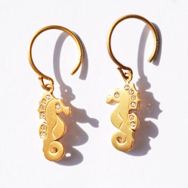 Seahorse Diamond Earrings