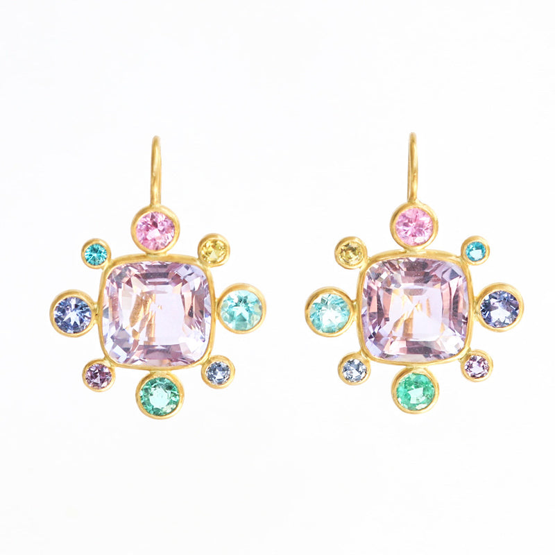 Amethyst Byzantine Earrings