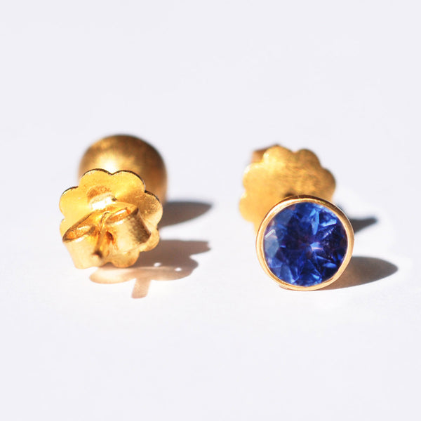 Tanzanite Bindi Stud Earrings