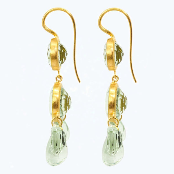 Green Quartz Gabrielle d'Estrées Earrings