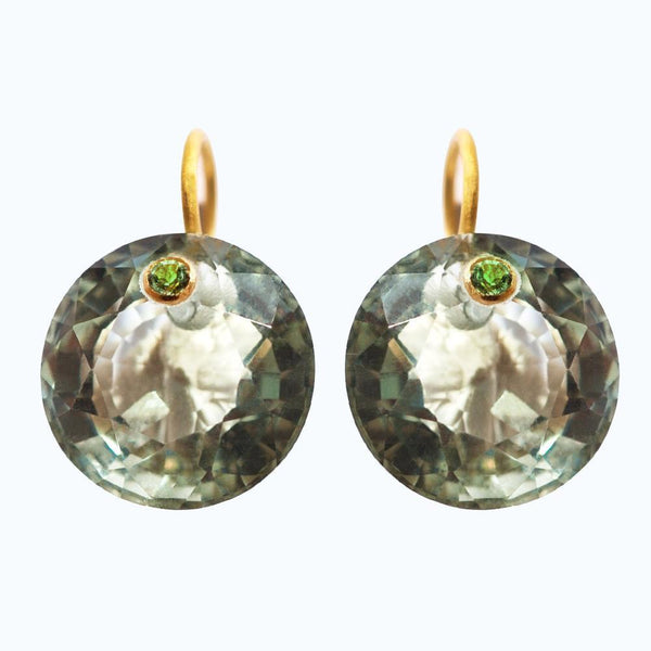 Green Quartz Gem Earrings