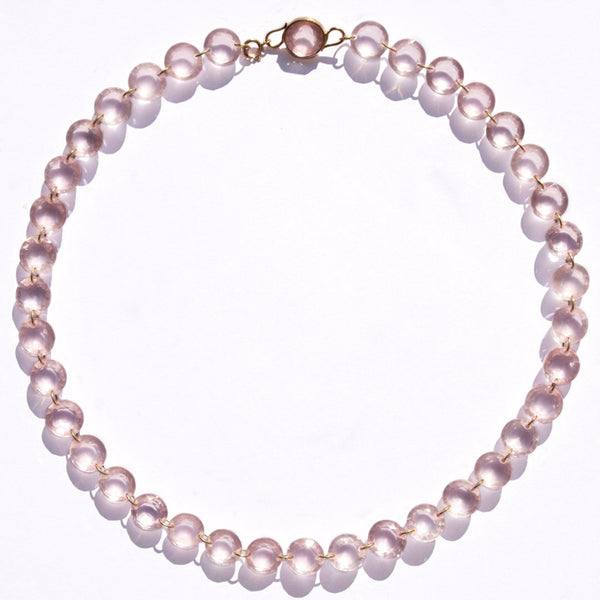 "Extra-Small Rose Quartz ""Lady Like"" Necklace"