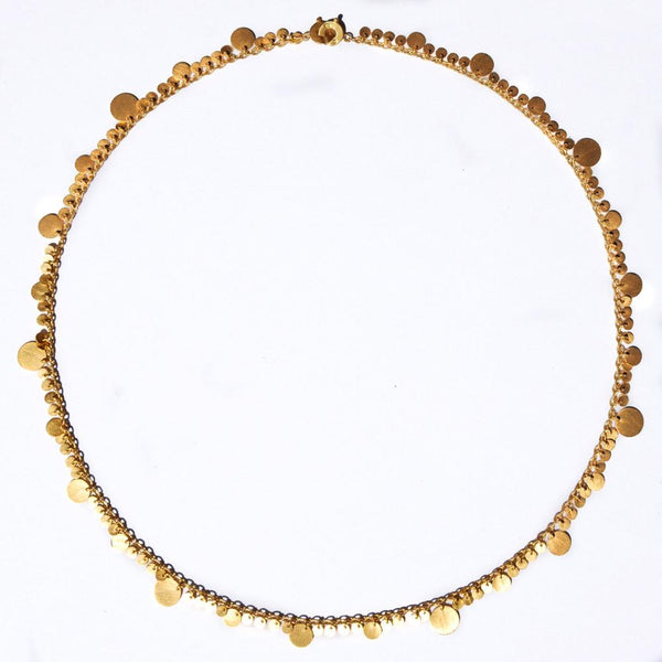 Dangling Irregular Sequin Necklace