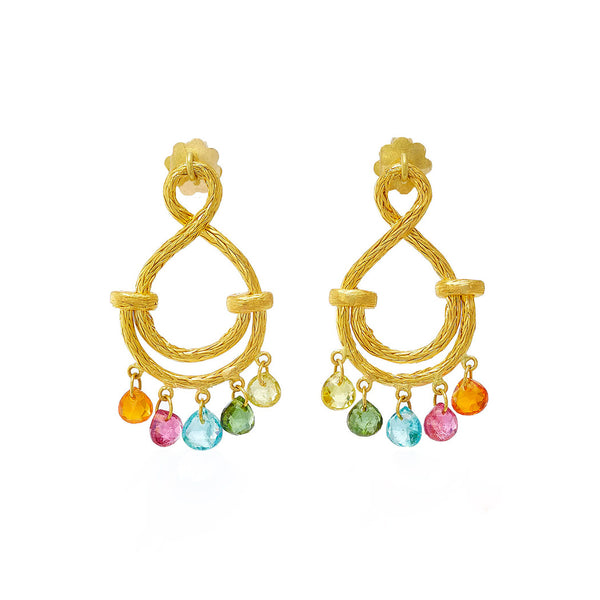 Small Multi-colored Figure of Eight Earrings