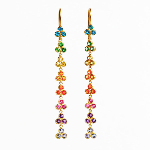 Small Rainbow Dangling Bollywood  Earrings
