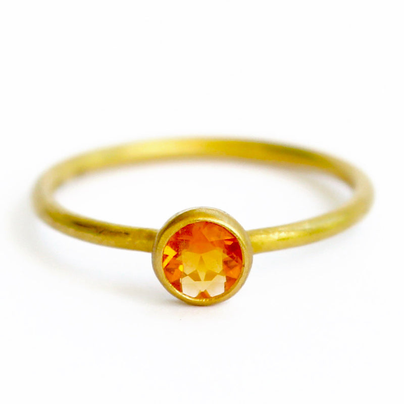 Fire Opal Mini Princess Ring