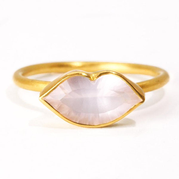 Small Rose Quartz Tender Kiss Ring