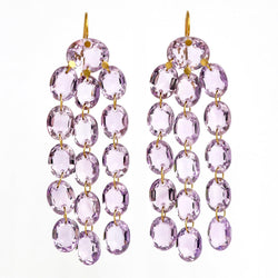 Amethyst Waterfall Earrings