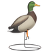 Rugged Full Body Mallard Sentry Drake_Right Side - Painted