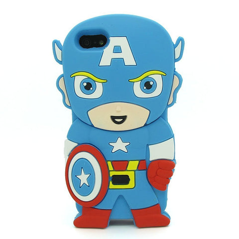 Captain America Silicone Soft Phone Case (iPhone, iPod and Samsung)