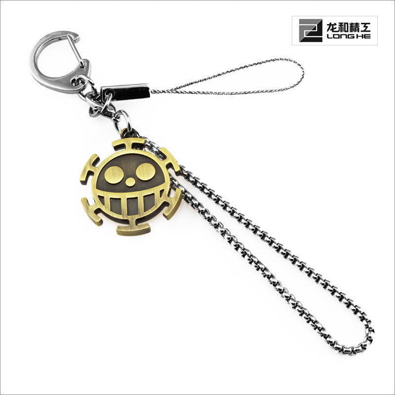 One Piece Heart Pirates Symbol Keychain / Necklace