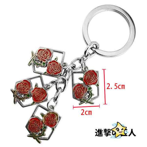 Attack on Titan Garrison Set Keychain